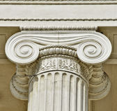 Ionic column. Detail of a ionic column stock images