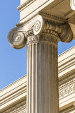 Ionic Column. Detailed Ancient Greek Ionic Column royalty free stock photography