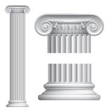 Ionic column. Illustration of classical Greek or Roman Ionic column Stock Photos