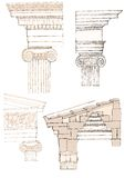 Ionic column. Greek Ionic column with capital Stock Photography