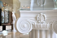 Ionic column. An Ionic column of Greek architecture stock photos