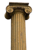 Ionic column. A classical Greek ionic column isolated on a white background royalty free stock photos