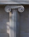Ionic column. In the British Museum, London royalty free stock photography