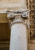 Ionic column. As a fragment of classic building stock images
