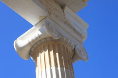 Ionic column capital, Acropolis in Athens Greece Stock Photo