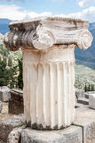 Ionic Column Delphi Greece Royalty Free Stock Photos
