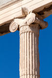 Ionic column of Erechteion, Acropolis, Athens Stock Photography