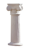 Ionic column isolated. White ionic column isolated with clipping path Stock Photo
