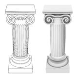 Ionic column style perspective view isolated Royalty Free Stock Photography