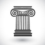 Ionic column vector Stock Images