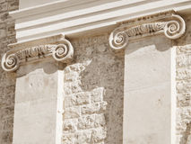 Ionic columns. Stock Photography