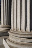 Ionic Columns. On a New York City courthouse stock image