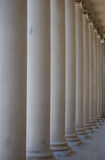 Ionic columns. At the Palace of the Legion of Honor museum in San Francisco, California royalty free stock photos