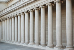 Ionic columns. At the Palace of Legion of Honor, San Francisco stock photos