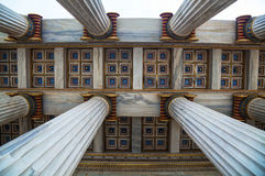 Ionic columns at The Academy of Athens Stock Photo