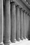 Ionic columns (Black and White. Ionic columns at Palace of the Legion of Honor in San Francisco (black and white royalty free stock photos
