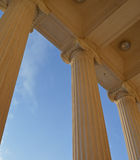 Ionic columns and blue sky Royalty Free Stock Images