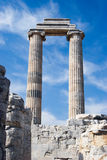 Ionic columns at Greek temple Stock Photography