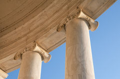 Ionic Columns at Jefferson Memorial. In Washington DC stock photos