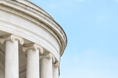 Ionic Columns at Jefferson Memorial Royalty Free Stock Photos