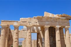 Ionic columns of the Parthenon Stock Photo