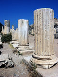 Ionic columns in the Roman basilica in Ephesus,Turkey Stock Images
