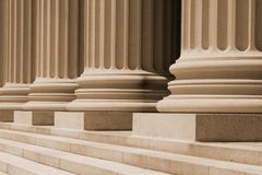 Ionic Columns and Steps at a Courthouse Royalty Free Stock Photo