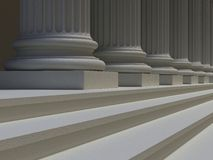 Ionic columns and steps Royalty Free Stock Image