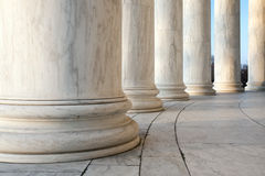 Ionic Columns in Washington DC. Base of Ionic Columns at Jefferson Memorial in Washington DC royalty free stock image