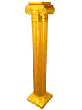 Ionic gold column. Ancient Ionic gold column isolated on white background Royalty Free Stock Photo