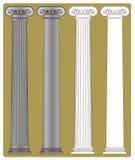 ionic kolonn Arkivbilder