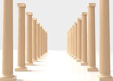 Ionic order. Two rows of Ionic columns Royalty Free Stock Photo