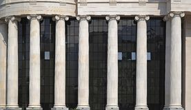 Ionic order columns Stock Photography
