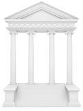 ionic tempel Arkivfoto