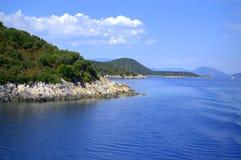 Ionisch eilandenlandschap, Griekenland stock foto's