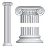Ionische kolom Stock Foto's