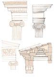 Ionische kolom stock illustratie