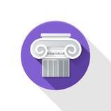 Ionische kolomillustratie Royalty-vrije Stock Afbeelding