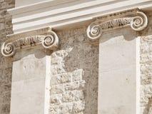Ionische kolommen. Stock Fotografie
