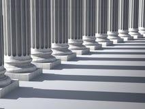 Ionische kolommen Royalty-vrije Stock Foto