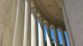 Ionische Kolommen van Jefferson Memorial in Washington, D C Stock Afbeelding