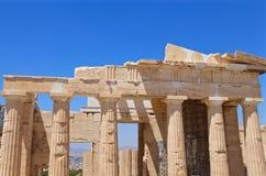 Ionische kolommen van Parthenon Stock Foto