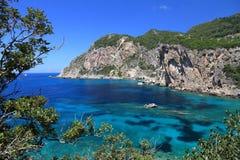 Ionische Overzees, Griekenland royalty-vrije stock afbeeldingen