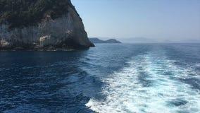 Ionische Overzees, Griekenland stock videobeelden