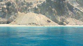 Ionische Overzees, het eiland van Griekenland, Lefkada, Egremni stock videobeelden