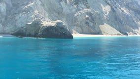 Ionische Overzees, het eiland van Griekenland, Lefkada, Egremni stock footage