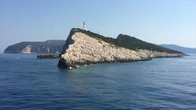 Ionische Overzees, het eiland van Griekenland, Lefkada, Kaap Lefkada stock video