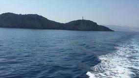 Ionische Overzees, het eiland van Griekenland, Lefkada, Kaap Lefkada stock videobeelden