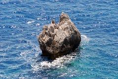 Ionische Overzees, het Eiland van Korfu, Griekenland Stock Afbeeldingen