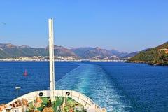 Ionisches Meer Griechenland der Bootsreise stockfoto